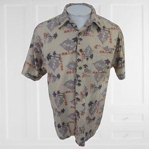 Route 66 shirt Hawaiian yin yang fish sz M